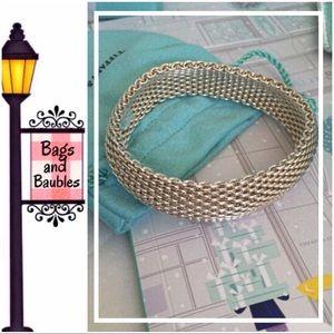 TIFFANY & COMPANY Somerset Silver Bangle Bracelet